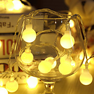 cheap LED String Lights-10m String Lights 80 LEDs Dip Led Warm White / RGB / White Rechargeable / Waterproof 100-240 V / IP65