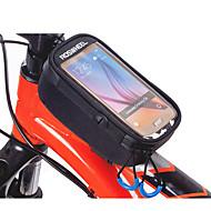 billige -ROSWHEEL Vesker til sykkelramme Mobilveske 5.2 tommers Vanntett Glidelås Anvendelig Fukt-sikker Støtsikker Berøringsskjerm Sykling til