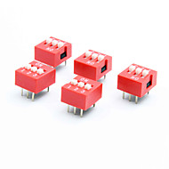 halpa DIY-osat-DIY 3 pole 2 asemassa 6 pin DIP-kytkin (5-osainen pakkaus)
