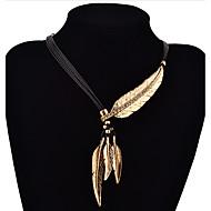Недорогие Бижутерия-Жен. форма Мода Ожерелья с подвесками Серебрянное покрытие Позолота Ожерелья с подвесками Повседневные