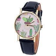 Недорогие Женские часы-Жен. Модные часы Кварцевый Повседневные часы Кожа Группа Elegant Черный Белый Коричневый Зеленый Розовый