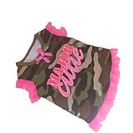 お買い得  -犬 Tシャツ 犬用ウェア 文字&番号 迷彩色 コットン コスチューム ペット用 夏 クラシック
