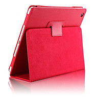 cheap iPad Accessories-Case For iPad Air 2 with Stand / Auto Sleep / Wake Full Body Cases Solid Colored PU Leather for iPad Air 2
