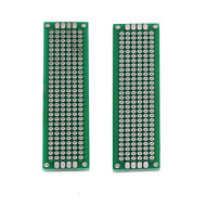 お買い得  Arduino 用アクセサリー-DIYの両面錫はキロバイトボードをメッキ - 銀+グリーン(2個)