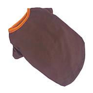 Hunde T-shirt Braun Hundekleidung Sommer einfarbig