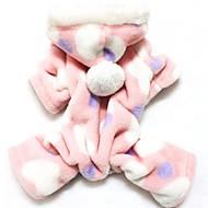 Mačke Psi Hoodies Jumpsuits Pidžama Narančasta Odjeća za psa Zima Proljeće/Jesen Na točkice Slatko Ležerno/za svaki dan