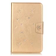 Назначение Кейс для  Samsung Galaxy Чехлы панели Бумажник для карт Кошелек Стразы со стендом Флип Рельефный Чехол Кейс для Цветы Мягкий