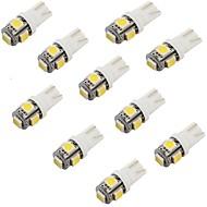abordables Luces de Exterior para Coche-10pcs T10 Coche Bombillas 1.2W 5