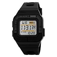 Недорогие Фирменные часы-SKMEI Муж. Спортивные часы электронные часы Цифровой 30 m Защита от влаги Будильник Календарь PU Группа Цифровой Черный / Роуз - Черный Серый Розовый