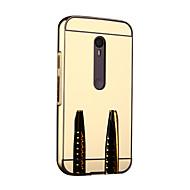 Mert Motorola tok Tükör Case Védőkeret Case Egyszínű Kemény Fém Motorola Moto G3