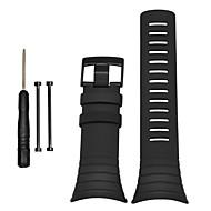 Недорогие Аксессуары для смарт-часов-Черный Pезина durable Спортивный ремешок Для Suunto Смотреть 24mm