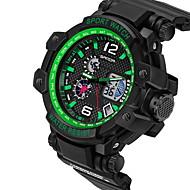 billige -SANDA Herre Sportsklokke Digital Watch LCD Kalender Vannavvisende Dobbel Tidssone alarm Selvlysende StoppeklokkeQuartz Digital Japansk