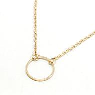 Недорогие $0.99 Модное ювелирное украшение-Жен. Ожерелья с подвесками - Простой стиль, Мода Золотой, Серебряный Ожерелье 1шт Назначение Для вечеринок, Повседневные
