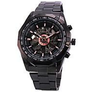 お買い得  Winner-WINNER 男性用 リストウォッチ 機械式時計 自動巻き 透かし加工 ステンレス バンド ぜいたく ブラック