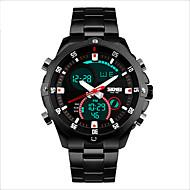 Недорогие Фирменные часы-SKMEI Муж. Спортивные часы Кварцевый Механические, с ручным заводом Японский кварц Защита от влаги LED Повседневные часы Нержавеющая сталь