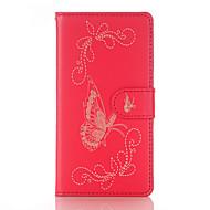 Для Samsung Galaxy S7 Edge Бумажник для карт Кошелек со стендом Флип С узором Кейс для Чехол Кейс для Бабочка Мягкий Искусственная кожа