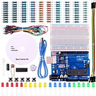 cheap Electronics Accessories-UNO Project Basic Starter Kit with Tutorial and UNO R3 for Arduino