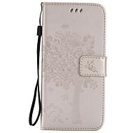 Недорогие Чехлы и кейсы для Galaxy S7 Edge-Кейс для Назначение SSamsung Galaxy Samsung Galaxy S7 Edge Бумажник для карт Кошелек со стендом Флип Рельефный Чехол дерево Мягкий Кожа PU