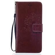 Для Кейс для  Samsung Galaxy Кошелек / Бумажник для карт / со стендом Кейс для Чехол Кейс для Одуванчик Мягкий Искусственная кожа Samsung