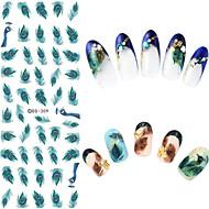 abordables Adhesivos para Uñas-Etiqueta engomada del clavo del arte del clavo Joyas de Uñas