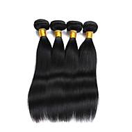 Echt haar Indiaas haar Menselijk haar weeft Recht Haarextensions 4-delig Natuurlijke Kleur