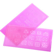 Nail Art prego etiqueta Diecut Manicure Stencil / Moldes de Unhas Acrílicas 3D