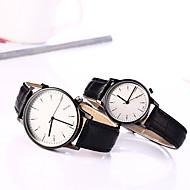 Χαμηλού Κόστους Μοντέρνα ρολόγια-Γυναικεία Μοδάτο Ρολόι Χαλαζίας Καθημερινό Ρολόι Δέρμα Μπάντα Φυλαχτό Μαύρο Καφέ