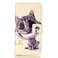 Для Samsung Galaxy S7 Edge Бумажник для карт / Кошелек / со стендом / Флип / С узором Кейс для Чехол Кейс для Кот МягкийИскусственная