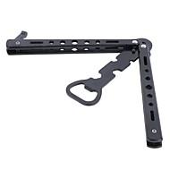 (Random boja) 1pc inox otvarač za boce leptir nož u stilu trenera alat metalna pivo crna traka
