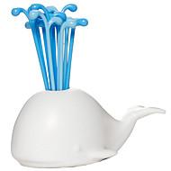 abordables Palillos y soportes-Herramientas de cocina El plastico Bonito / Cocina creativa Gadget Tenedores / Ensaladas de las frutas 16pcs