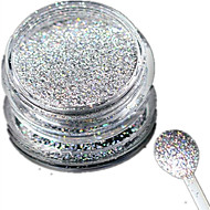 1 Bottle Nail Art Laser Silver Glitter Shining Powder Manicure Decoration Nail Beauty L03