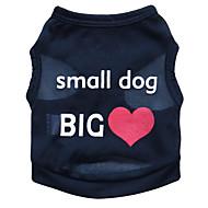 tanie Artykuły dla zwierząt-Kot Pies T-shirt Ubrania dla psów Kwiatowy/roślinny Black Niebieski Różowy Terylene Kostium Dla zwierząt domowych Męskie Damskie Modny