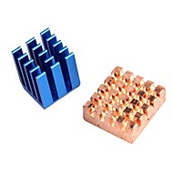 お買い得  Arduino 用アクセサリー-ラズベリーパイbのヒートシンクを冷却銅アルミ+; 2ヒートシンクのラズベリーパイ2 RPIセット