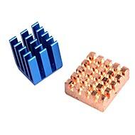 koperen aluminium koeling heatsink voor Raspberry Pi b +& Raspberry Pi 2 RPI set van 2 koellichamen
