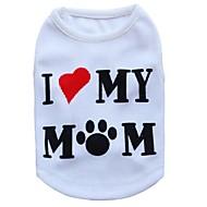 お買い得  -ネコ 犬 Tシャツ 犬用ウェア 花/植物 ホワイト テリレン コスチューム ペット用 男性用 女性用 ファッション