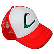 Hat/Kasket Inspireret af Pocket Monster Ash Ketchum Anime / Videospil Cosplay Tilbehør Kasket / Hat Hvid / Rød Terylene Mand