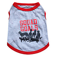 Katzen / Hunde T-shirt Grau Hundekleidung Sommer Tier Modisch