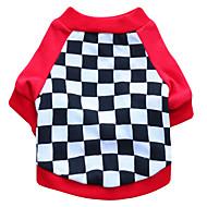 お買い得  -ネコ 犬 Tシャツ 犬用ウェア 幾何学的な ブラック レッド コットン コスチューム ペット用 男性用 女性用 ファッション