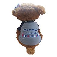 お買い得  -犬 Tシャツ 犬用ウェア 文字&番号 Stars ダークグレイ コットン コスチューム ペット用