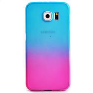 Недорогие Чехлы и кейсы для Galaxy S-Кейс для Назначение SSamsung Galaxy Samsung Galaxy S7 Edge С узором Чехол Градиент цвета Твердый ПК для S7 edge S7 S6 edge S6