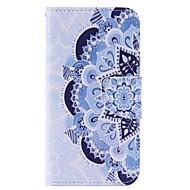 Назначение Кейс для  Samsung Galaxy Чехлы панели Бумажник для карт Кошелек со стендом Флип Чехол Кейс для Мандала ТвердыйИскусственная