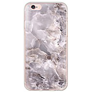 Недорогие Кейсы для iPhone 8-Кейс для Назначение Apple iPhone X iPhone 8 iPhone 6 iPhone 6 Plus Ультратонкий Полупрозрачный Кейс на заднюю панель Мрамор Мягкий ТПУ для
