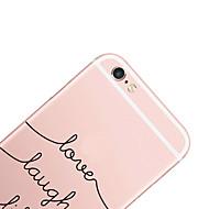 Недорогие Кейсы для iPhone 8-Кейс для Назначение Apple iPhone X iPhone 8 iPhone 6 iPhone 6 Plus С узором Кейс на заднюю панель Слова / выражения Твердый ПК для iPhone