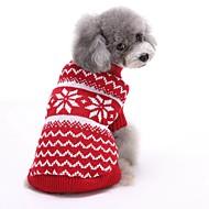 abordables Disfraces de Navidad para mascotas-Gato Perro Suéteres Navidad Ropa para Perro Rayas Rojo Azul Algodón Disfraz Para mascotas Hombre Mujer Bonito Año Nuevo