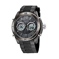 Недорогие Фирменные часы-ASJ Муж. электронные часы Японский Календарь / Защита от влаги / Cool PU Группа Роскошь / На каждый день Черный