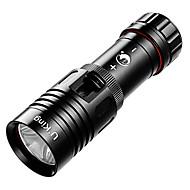 お買い得  フラッシュライト/ランタン/ライト-U`King® LED懐中電灯 LED 1200LM ルーメン 1 モード XM-L2のT6 / クリーXM-L2 18650 調光可能 / 防水 ダイビング/ボーティング アルミ合金