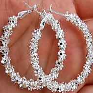 Dámské Náušnice - Kruhy Náušnice dámy Cikánské Módní Cikánský Šperky Bílá Pro Svatební Denní Ležérní Plesová maškaráda Zásnuby Maturitní ples