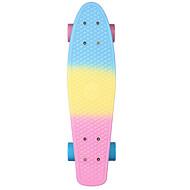 お買い得  ツール&アクセサリー-22 inch クルーザースケートボード プロフェッショナル PP(ポリプロピレン) Abec-7-ブルー+ピンク 虹色
