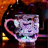 1db színes színes kreatív pub KTV kapcsoló vaku üveg bögre LED lámpa éjszakai fény led drinkware