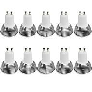 お買い得  LED スポットライト-10枚 4W 380 lm GU10 LEDスポットライト 1 LEDの COB 調光可能 装飾用 温白色 クールホワイト AC 110-130 交流220から240 V